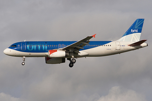 bmi Airbus A320 G-MIDO Returns from East Midlands Maintenance.